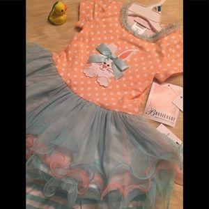 BONNIE BABY 2 PC BUNNY DRESS AND CAPRI PANTS 24 m